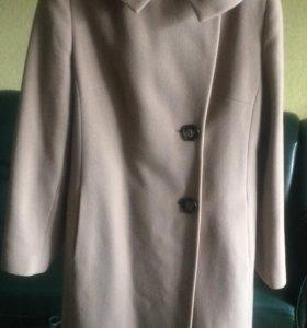Пальто Elis,светло бежевое, длинное
