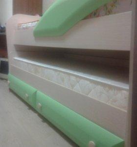 Кровать детская двухярусная выдвижная