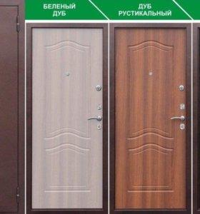 Дверь входная Лиственница шоколад