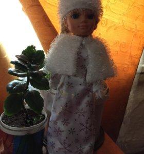 костюм Снегурочки для куклы 40-45 см