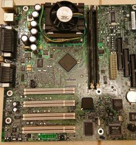 Материнка+процессор+сеть+модем
