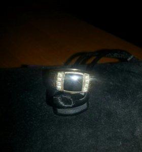 Кольцо - печатка, мужское из серебра.