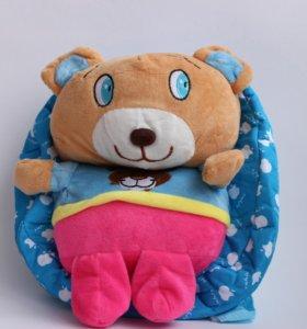 Детский рюкзак мягкая игрушка Мишка плюшевый