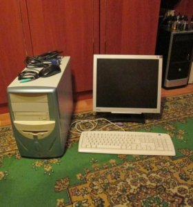 Системник,монитор,клава и мышь
