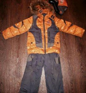 Зимний комплект (куртка , штаны , шапка)