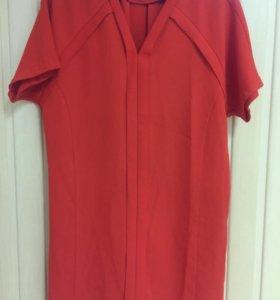 Оранжевое платье Whistles