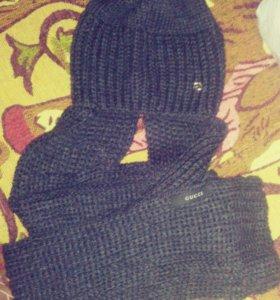 Новая шапка с шарфиком Cucci