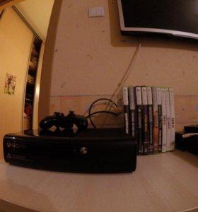 Игровая приставка xbox 360 500гб+kinect+10 игр
