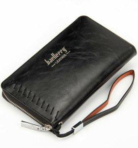 Клатч портмоне Baellerry Leather + нож-кредитка
