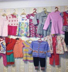 Детская одежда.Платье лосины куртка туника