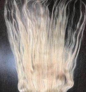 Натуральные волосы ,на клипсах 55 см