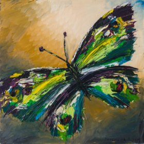триптих бабочки.