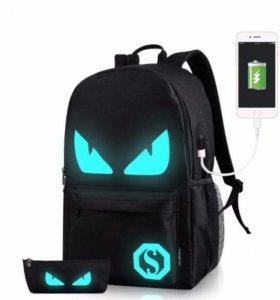 Рюкзак светящийся, антивор, зарядка