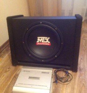Сабвуфер МТX + усилитель Soundmax SM-SA752