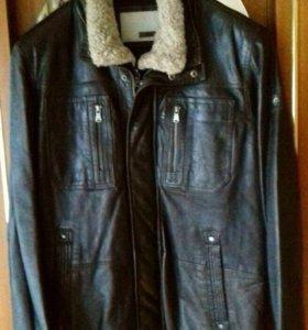 Зимняя Кожаная куртка бренд Milestone оригинал