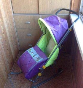 Санки-коляска для детей Тимка Люкс