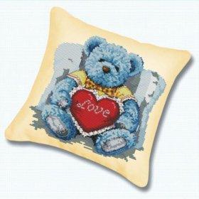 Набор для вышивания-Медвежонок с сердцем, 45*45