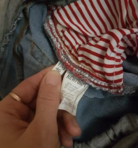 Джинсовые шорты для беременных
