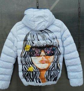 Куртка от спортивного горнолыжного костюма