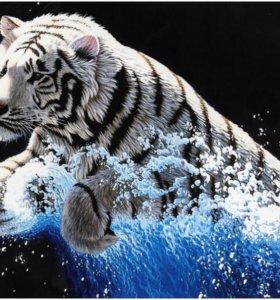 Набор для вышивания Белый тигр, 62*49