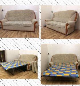 Диван-кровать,диван-малютка полка,2кресла