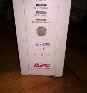 Источник бесперебойного питания APC back-ups 500