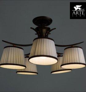 Потолочная люстра Arte Lamp Irene A5133PL-5BR