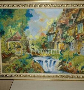 Картина с янтарем живопись