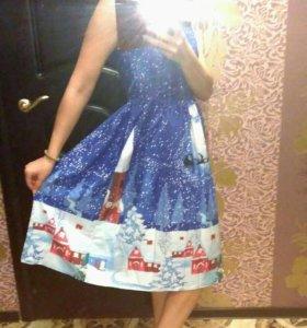 Нарядное новогоднее платье в аренду на фотосессию