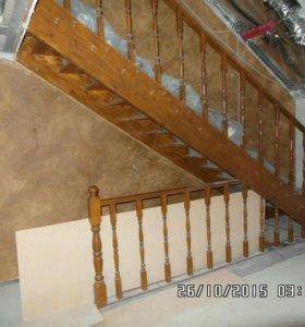 Добротная дубовая  качественая лестница