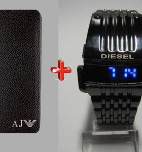 Diesel хищник и портмоне giorgio armani. Доставка