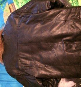 Кожаная куртка. Зима