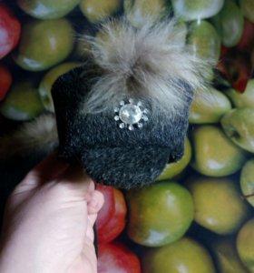 Тёплые  шапочка и накидка для маленькой собачки