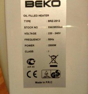 Масляный радиатор BEKO электрический