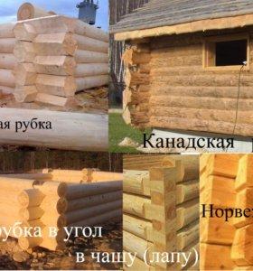 Изготовление срубов в исконно русских традициях