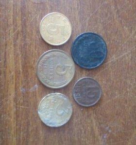 Монеты ссср. Одна из Китая или японии