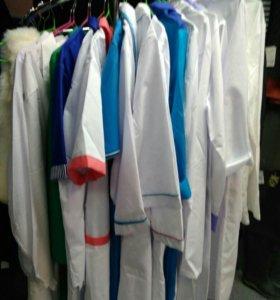 Медицинские женские халаты и костюмы, распродажа!