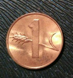 Монета 1 раппен (Швейцария)