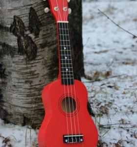 Укулеле красная / гавайская гитара