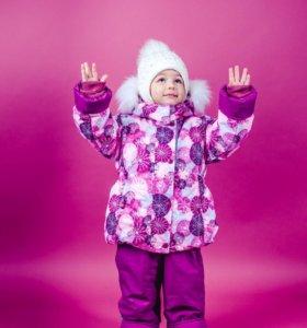 Мембранный зимний костюм на девочку в ассортименте