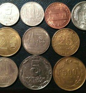 10 монет с разных уголков мира