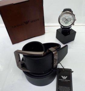 Armani часы и ремень 😍