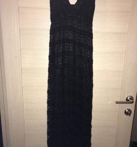 Платье длинное, кружевное