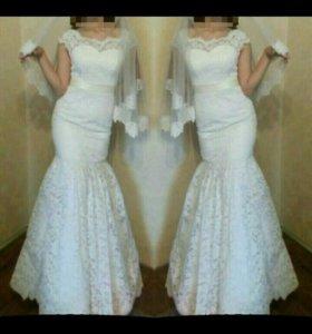 Свадебное платье русалка новое