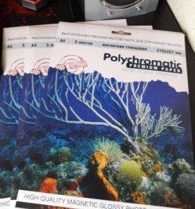 Фотобумага магнитная Polychromatic А4