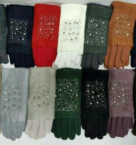 Женские перчатки новые