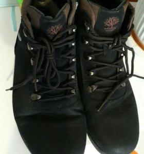 Ботинки из нубука мужские зима