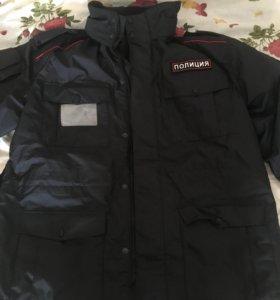 Куртка полицейская новая !