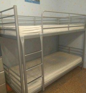 Кровать двухъярусная Икеа