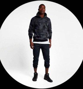 Флисовый худи с камуфляжным принтом Nike Jordan